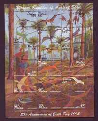 Prehistoric animals, Palau, 1995, 18stamps