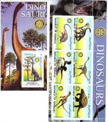 Somalia, Prehistoric animals, 7 stamps