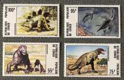Prehistoric animals, Congo, 1975, 4stamps