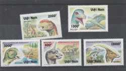 Vietnam, Prehistoric animals, 1996, 5stamps