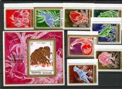 Prehistoric animals, Bahrain, 1971, 9stamps