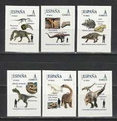 Spain, Prehistoric animals, 6 stamps