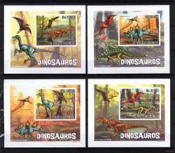 Sao Tome and Principe, Prehistoric animals, 2010, 4 stamps (imperf.)