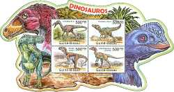 Guinea-Bissau, Prehistoric animals, 2011, 4stamps