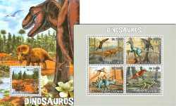 Sao Tome and Principe, Prehistoric animals, 2010, 5stamps
