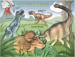 Guinea-Bissau, Prehistoric animals, 2011, 1stamp