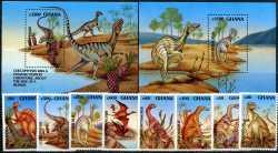 Ghana, Prehistoric animals, 1992, 10stamps