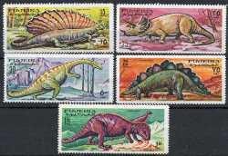 Fujairah, Prehistoric animals, 1968, 5stamps