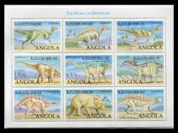 Angola, Prehistoric animals, 1998, 9 stamps