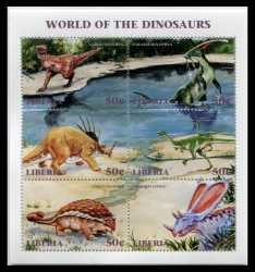 Liberia, Prehistoric animals, 1999, 6stamps