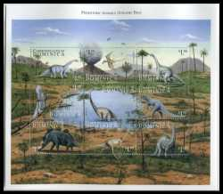 Dominica, Prehistoric animals, 1999, 9stamps