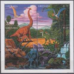 Grenada, Prehistoric animals, 1997, 6 stamps