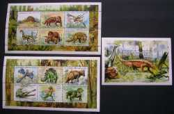 Central African Republic, Prehistoric animals, 1999, 13stamps