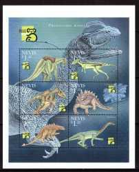 Nevis, Prehistoric animals, 1999, 6stamps