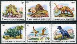 Maldives, Prehistoric animals, 1972, 6stamps