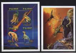 Zaire, Prehistoric animals, 1997, 5stamps (imperf.)