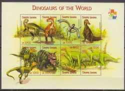 Sierra Leone, Prehistoric animals, 2001, 8stamps
