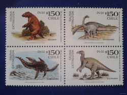 Chile, Prehistoric animals, 2000, 4 stamps