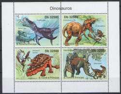 Sao Tome and Principe, Prehistoric animals, 2011, 4stamps