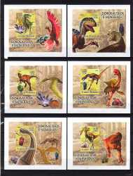 Guinea-Bissau, Prehistoric animals, 2005, 6 stamps (imperf.)