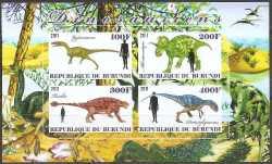Burundi, Prehistoric animals, 2011, 4stamps (imperf.)