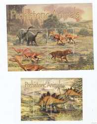 Antigua and Barbuda, Prehistoric animals, 5stamps