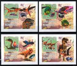 Sao Tome and Principe, Prehistoric animals, 2006, 4 stamps (imperf.)