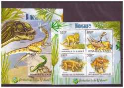 Burundi, Prehistoric animals, 5stamps