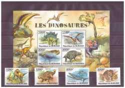 Burundi, Prehistoric animals, 8stamps
