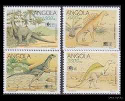 Angola, Prehistoric animals, 1994, 4 stamps