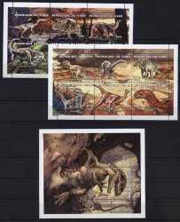 Tchad, Prehistoric animals, 13stamps