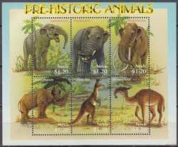 Nevis, Prehistoric animals, 2005, 6stamps