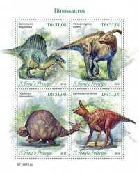 Sao Tome and Principe, Prehistoric animals, 2019, 4stamps