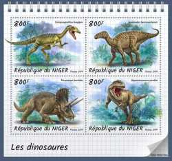 Niger, Prehistoric animals, 2019, 4 stamps