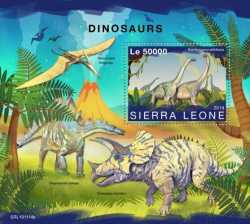 Sierra Leone, Prehistoric animals, 2019, 1 stamp