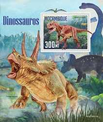 Mozambique, Prehistoric animals, 2019, 1stamp