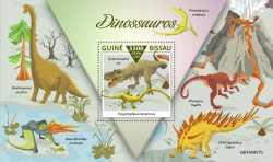 Guinea-Bissau, Prehistoric animals, 2019, 1stamp