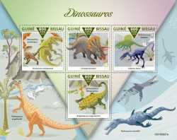 Guinea-Bissau, Prehistoric animals, 2019, 4stamps