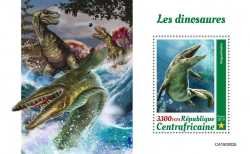 Central African Republic, Prehistoric animals, 2019, 1stamp