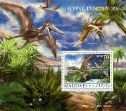 Maldives, Prehistoric animals, 2020, 1stamp