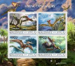 Maldives, Prehistoric animals, 2020, 4stamps