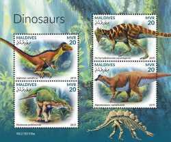 Maldives, Prehistoric animals, 2019, 4stamps