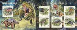 Guinea-Bissau, Prehistoric animals, 2018, 6stamps