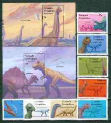 Grenada, Prehistoric animals, 1994, 10 stamps