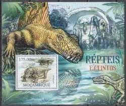 Mozambique, Prehistoric animals, 2012, 1stamp