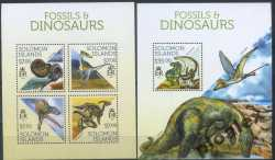 Solomon Islands, Prehistoric animals, 2013, 5 stamps