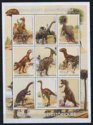 Madagascar, Prehistoric animals, 1999, 9stamps