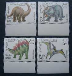 Somalia, Prehistoric animals, 4 stamps