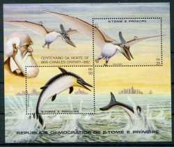 Sao Tome and Principe, Prehistoric animals, 1981, 2stamps