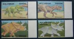 Mozambique, Prehistoric animals, 4stamps